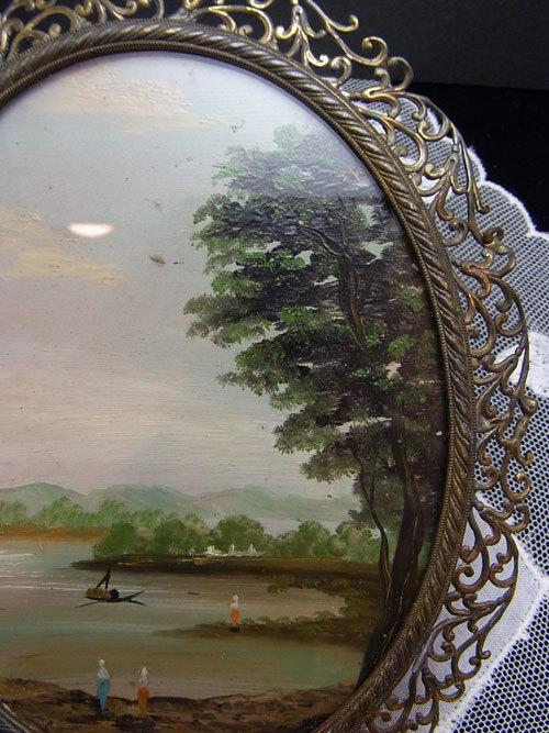 素敵な真鍮フレームのガラス絵_d0127182_16472069.jpg