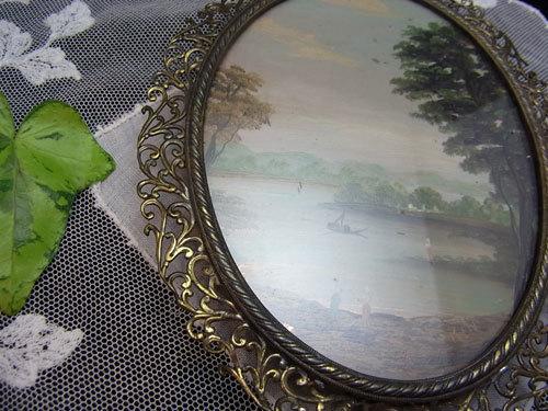 素敵な真鍮フレームのガラス絵_d0127182_16472658.jpg
