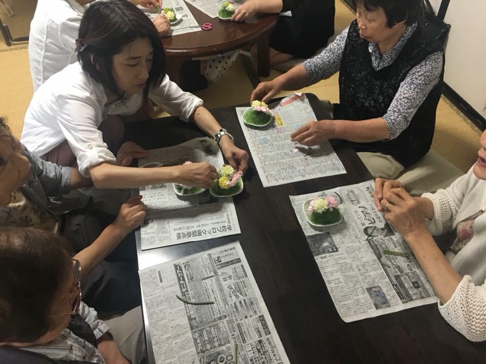 2018.6.28 お花アレンジ講座_f0309404_10101492.jpg