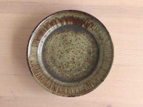 大沼道行さんの緑釉とわら灰釉のうつわ。_a0026127_13462344.jpg