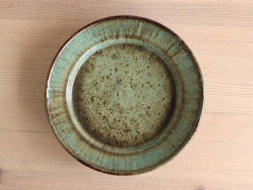 大沼道行さんの緑釉とわら灰釉のうつわ。_a0026127_13463497.jpg