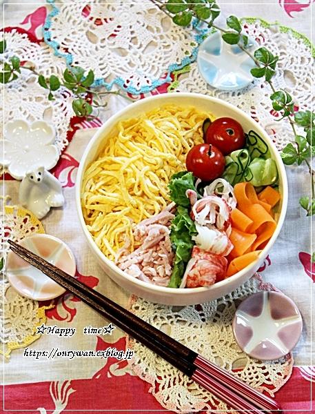 錦糸卵たっぷりな冷やし中華弁当と今夜のおうちごはん♪_f0348032_18580156.jpg