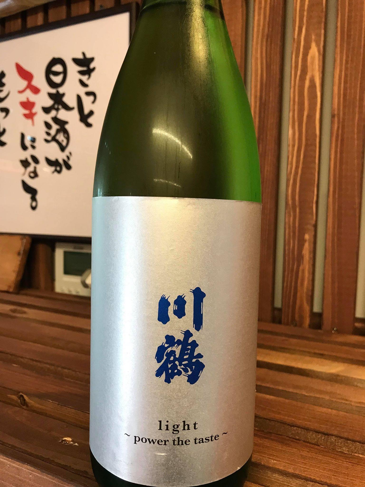 【日本酒】川鶴 light~power the taste~ 純米吟醸酒 限定 29BY_e0173738_10135880.jpg