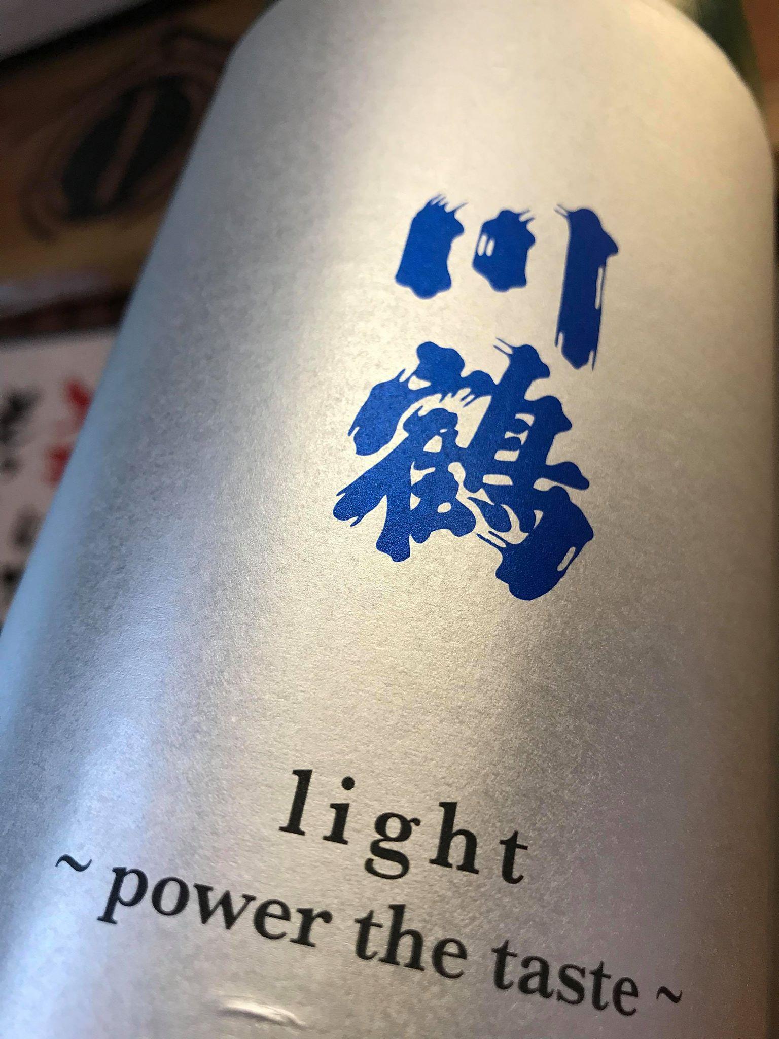 【日本酒】川鶴 light~power the taste~ 純米吟醸酒 限定 29BY_e0173738_108354.jpg