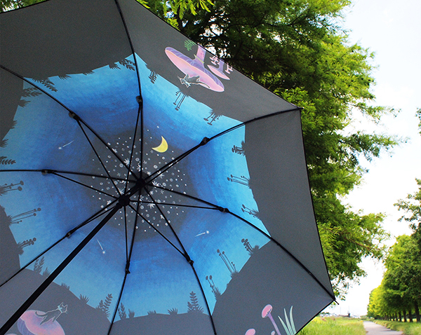 『三日月森の猫』晴雨兼用傘 _f0023482_11264822.jpg