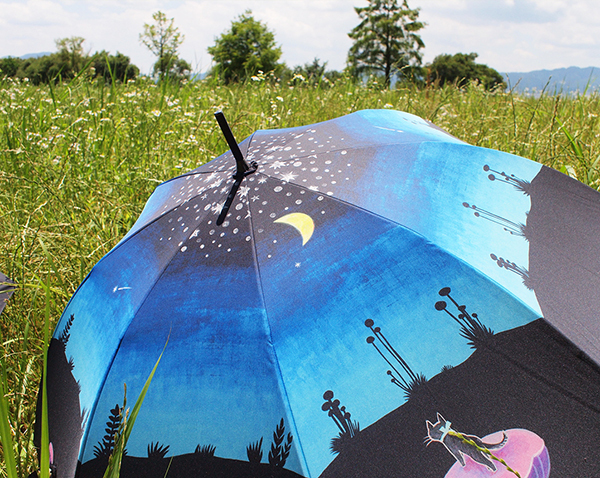 『三日月森の猫』晴雨兼用傘 _f0023482_11264885.jpg