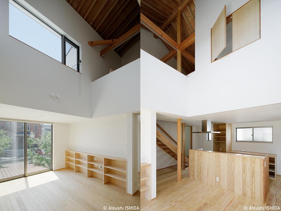 「鶴川の家」竣工写真・1階エリアと吹抜_b0061387_11542959.jpg
