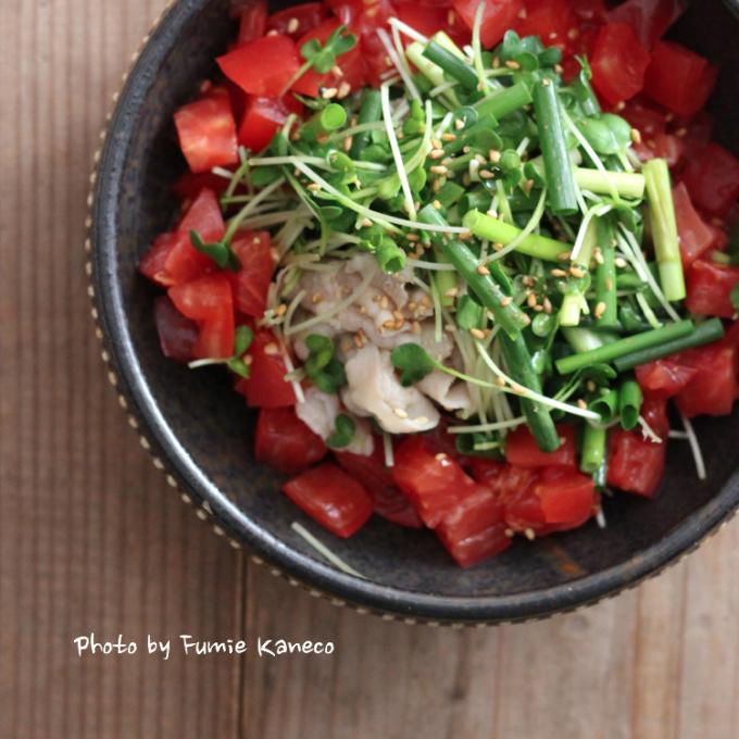 野菜たっぷり 冷しゃぶサラダ_f0235919_11291195.jpg