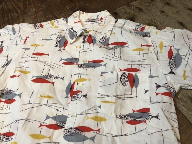 6月30日(土)入荷!50s CATALINA  カタリナ all cotton FISH柄 開襟、ボックスシルエットシャツ!_c0144020_14474078.jpg