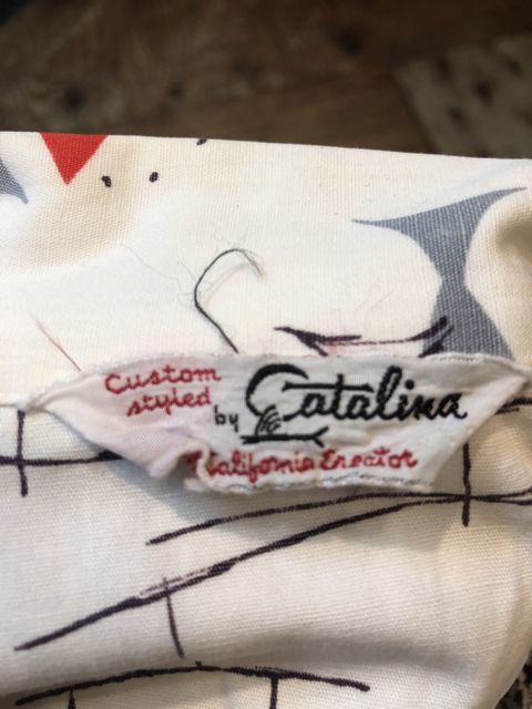 6月30日(土)入荷!50s CATALINA  カタリナ all cotton FISH柄 開襟、ボックスシルエットシャツ!_c0144020_14474382.jpg