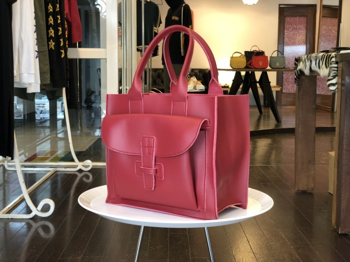 AGNES BADDOO X AVALON SPECIAL JOINTWORK SAC1 RED LEATHER TOTE_f0111683_16131538.jpg