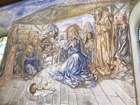 最後のフジタの作品、フジタ礼拝堂の美しさ_a0136671_00554854.jpg