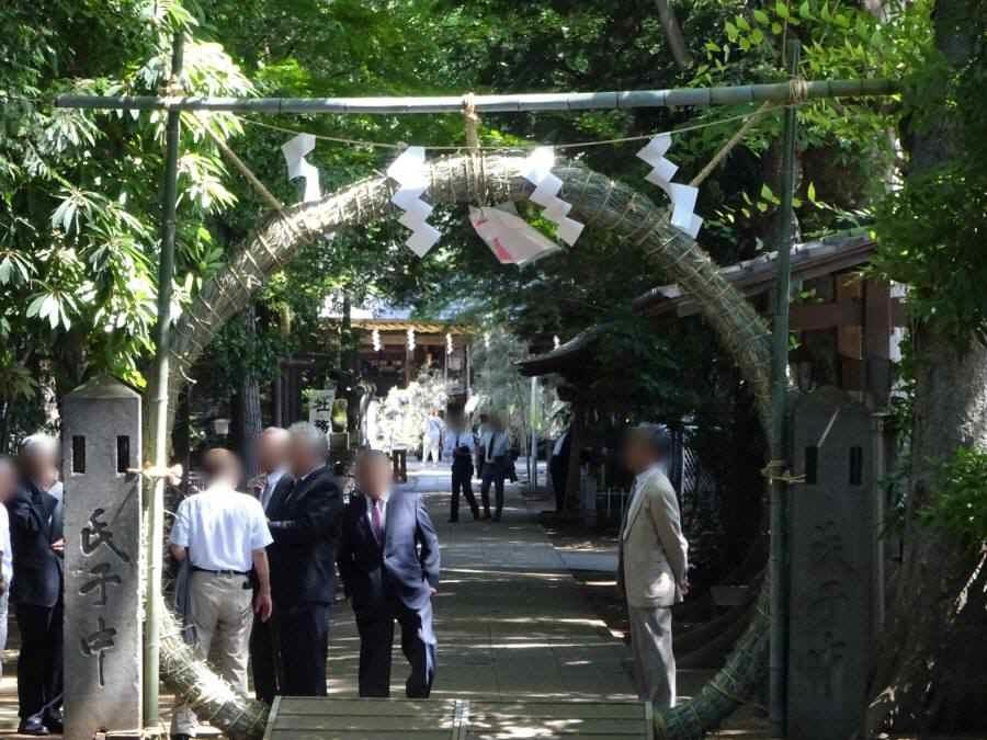 小平神明宮で夏越大祓い_f0059673_19454295.jpg