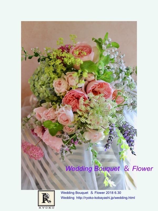 Wedding Bouquet  & Flower  Sさま  2018 6.30~June Bride~_c0128489_20392664.jpg
