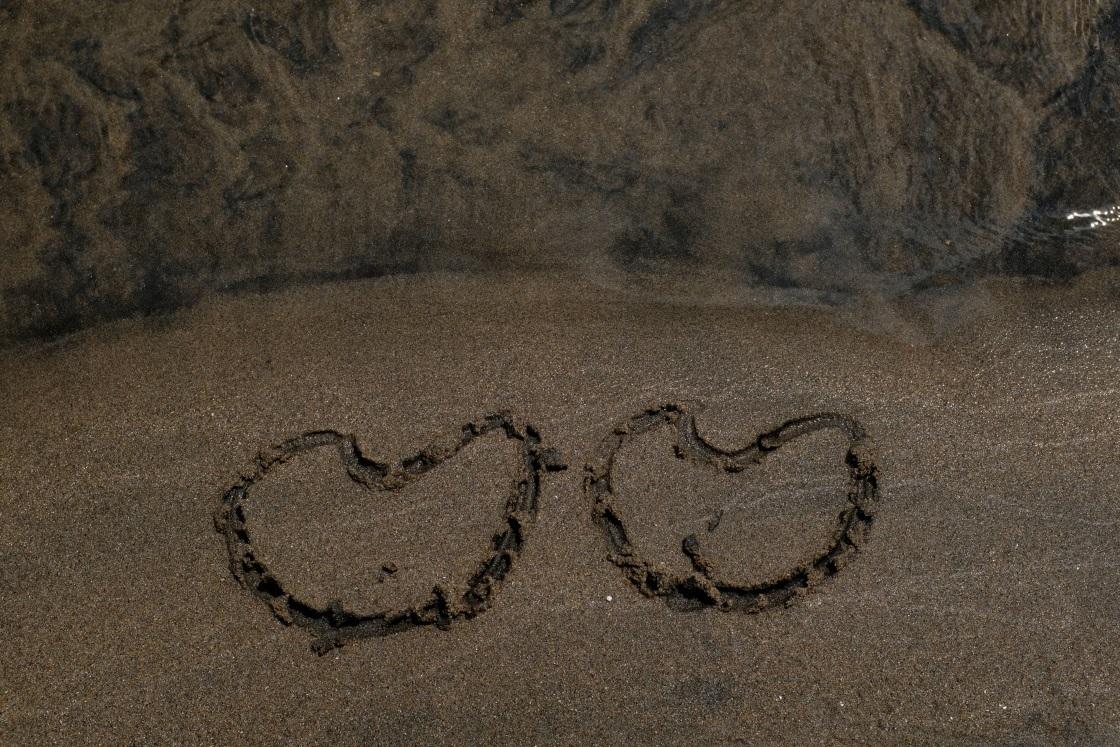 砂に書いた!! 日立市河原子海岸 2018・07・01_e0143883_17543872.jpg