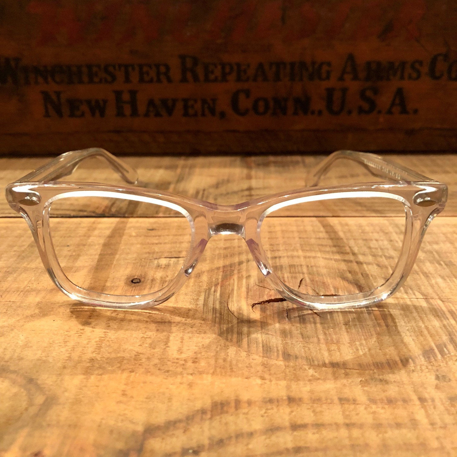 "1950-60s "" VICTORY optical \"" - VINTAGE - wellington CLEAR CELL FRAME - mintconditions - ._d0172088_22122401.jpg"