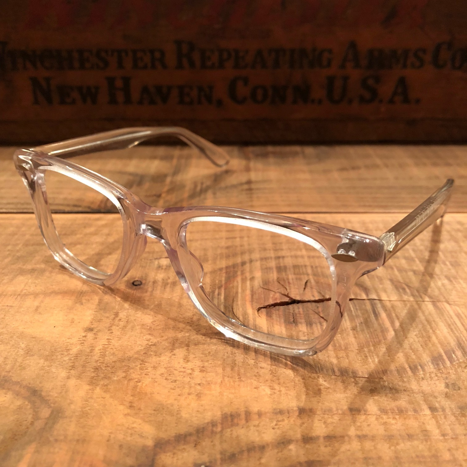 "1950-60s "" VICTORY optical \"" - VINTAGE - wellington CLEAR CELL FRAME - mintconditions - ._d0172088_22162965.jpg"