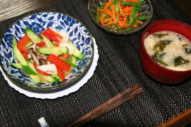 キュウリ・三度豆・モロッコ・茄子の料理が続きます。_f0229190_11094681.jpg