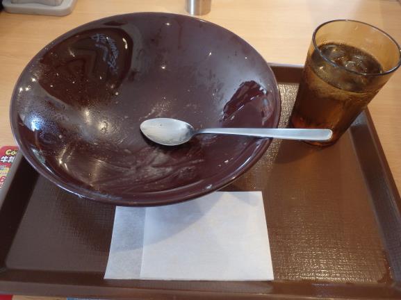 すき家のシーザーレタス牛丼      豊中曽根店_c0118393_16055512.jpg