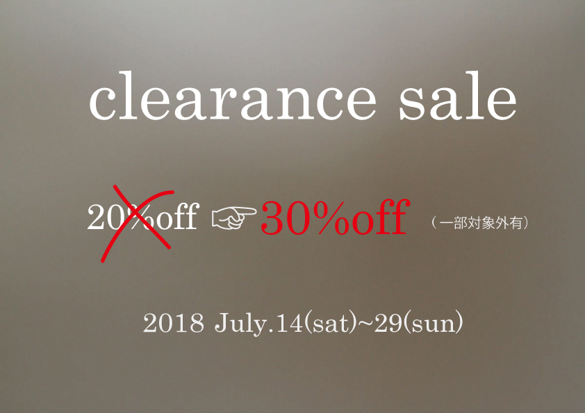 2018 summer sale clearance~info~_f0335217_20004008.jpg