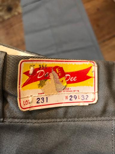 60s デッドストック all cotton  ワーク チノクロスパンツ!_c0144020_18011412.jpg