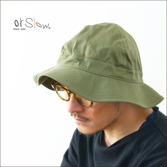 orslow[オアスロウ] US ARMY HAT GREEN WITH EYELET [03-001-16A] ユーエスアーミーハット MEN\'S/LADY\'S_f0051306_09185090.jpg