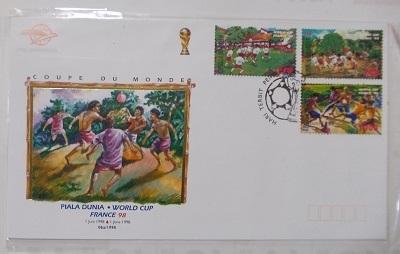 インドネシアの切手・初日カバー:サッカーワールドカップ 1998 フランス Piala Dunia France 98_a0054926_18201791.jpg
