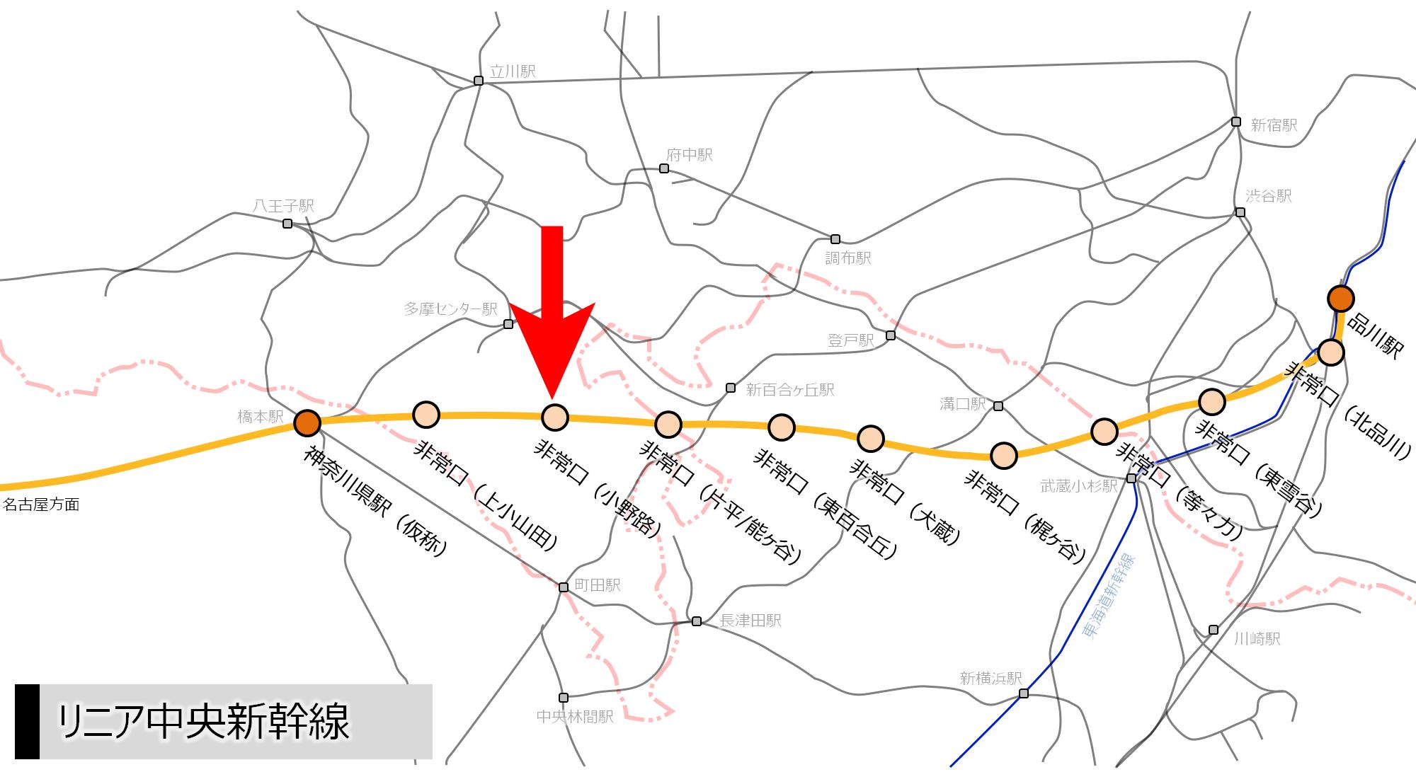 リニア中央新幹線 町田市小野路非常口に円形の構造物が出現?_a0332275_01015746.png