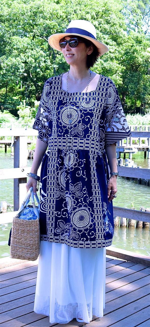 新作サック・ドレス「芽郁(めい)1号」年齢を重ねても大丈夫〜♡_f0170519_1731061.jpg
