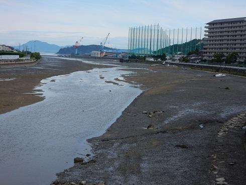 潮汐表マイナスの野呂川河口_e0175370_22193920.jpg