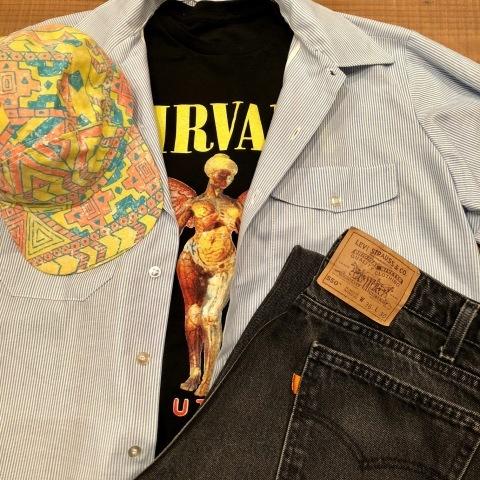 "Late 1990s \"" NIRVANA \"" 100% cotton VINTAGE ROCK Tee SHIRTS ._d0172088_20203093.jpg"