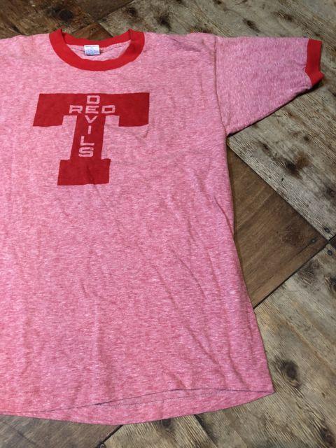 7月7日(土)入荷!70s チャンピオン バータグ 染込みプリント リンガーTシャツ!_c0144020_15043610.jpg