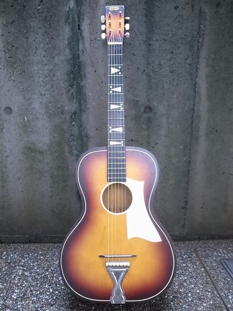 1940'S LYRA Parlor Guitar C.bruno&son by Harmony1940年代ライラ・パーラーギターBYハーモニー_f0197703_14301736.jpg