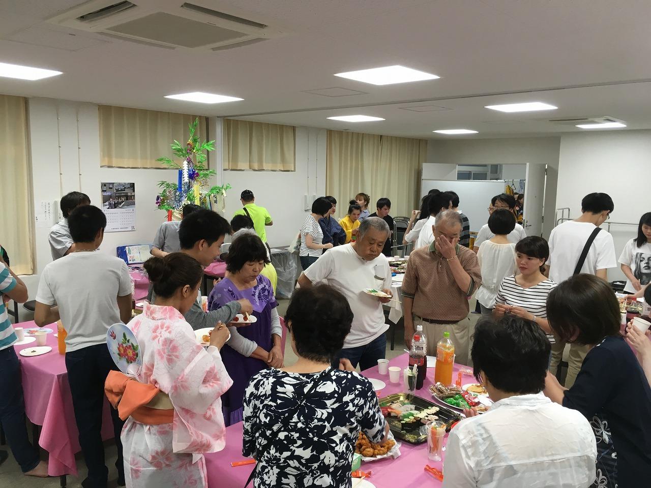 水曜日(夜)永和教室、2018年7月4日(水)、恒例の「七夕まつり」を開催しました。_e0175020_17003787.jpg