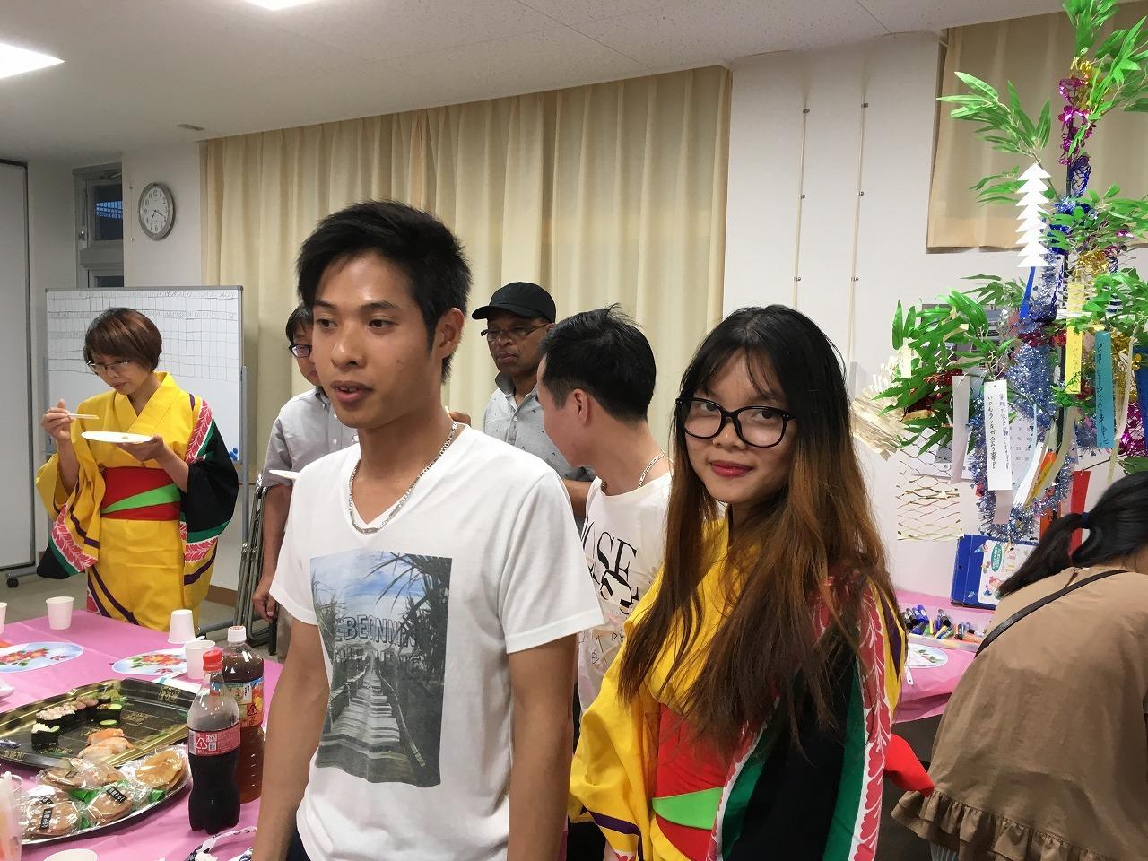 水曜日(夜)永和教室、2018年7月4日(水)、恒例の「七夕まつり」を開催しました。_e0175020_17005300.jpg
