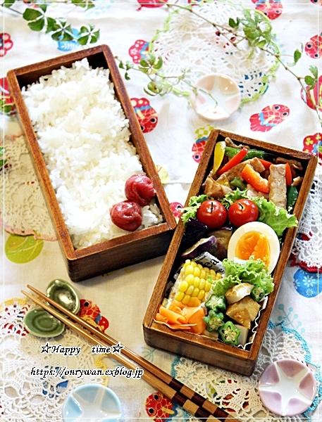 青椒肉絲弁当と♪_f0348032_18101760.jpg