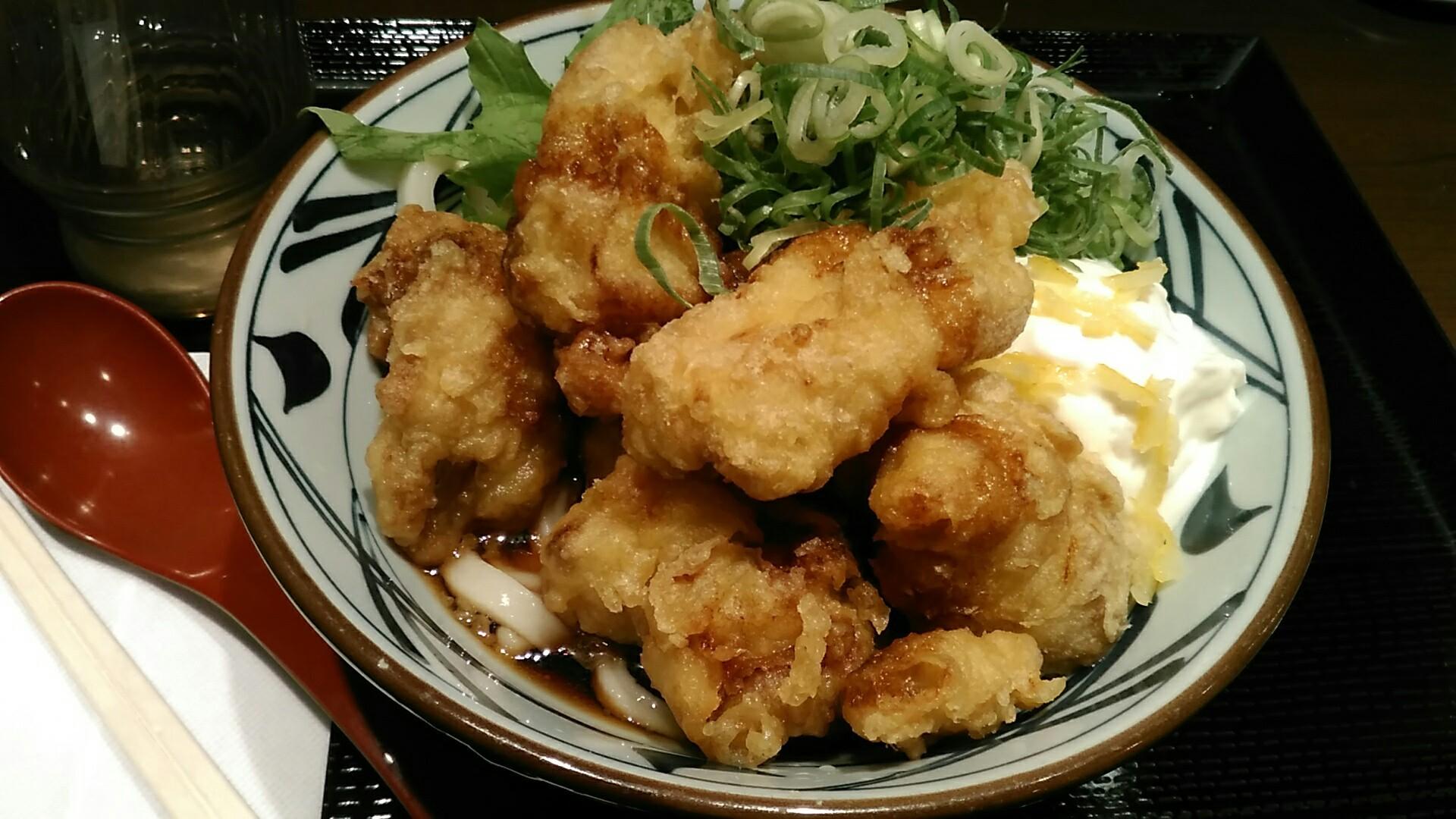 丸亀製麺 『タル鶏天ぶっかけ』_a0326295_03085136.jpg