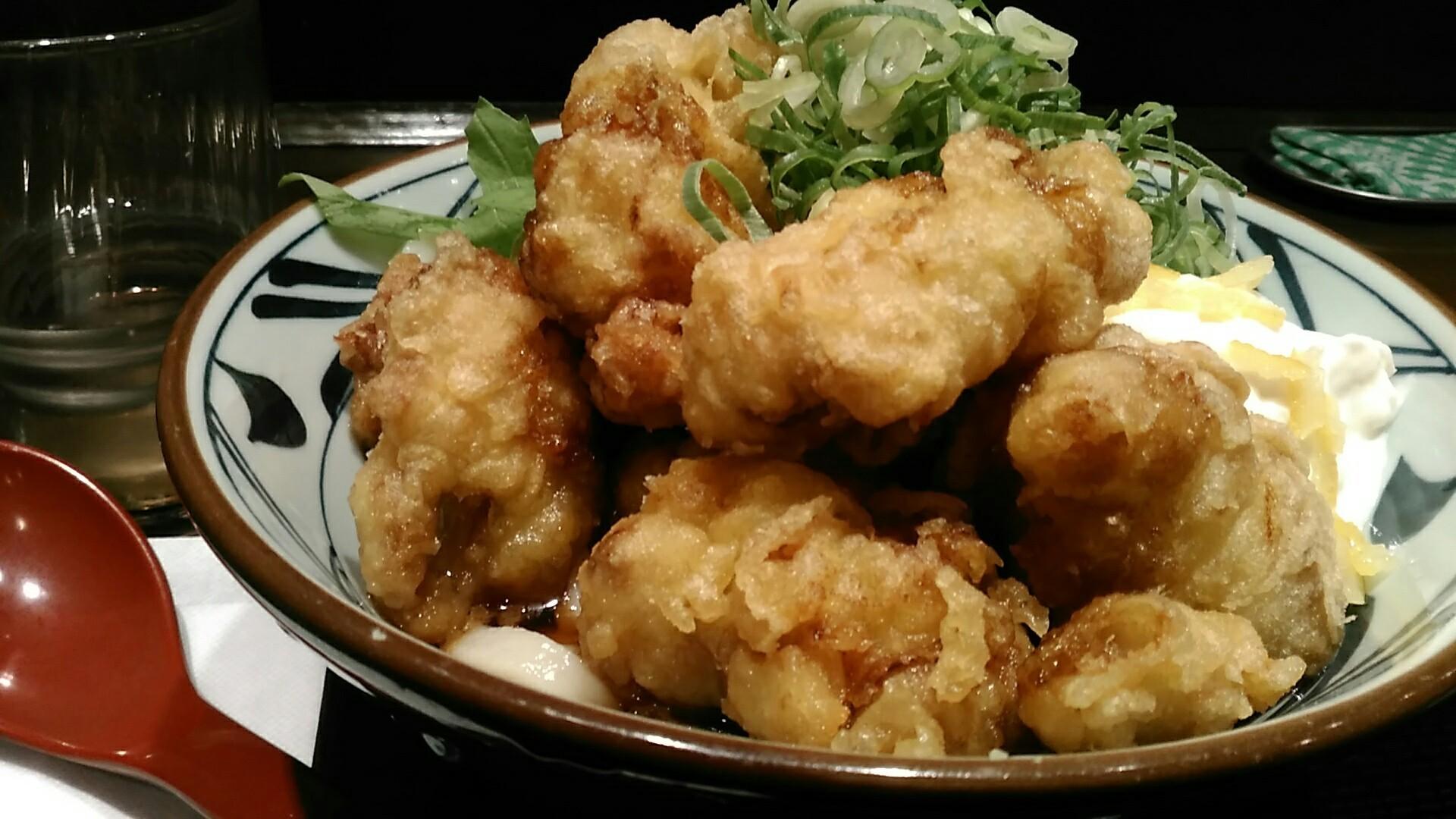 丸亀製麺 『タル鶏天ぶっかけ』_a0326295_03091463.jpg
