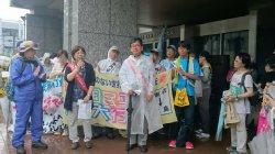 警報が残る中、核廃絶を求め今年も平和行進が池田に到着、兵庫・川西へ引き継ぎました。_c0133422_0203875.jpg