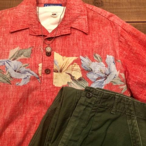 "1970s \"" O.P - OCEAN PACIFIC - \"" 60/40 - BACK CLOTH - vintage P/O SHIRTS ._d0172088_21512849.jpg"