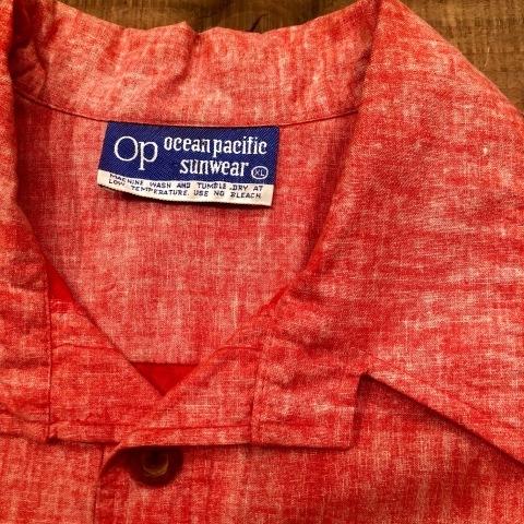 "1970s \"" O.P - OCEAN PACIFIC - \"" 60/40 - BACK CLOTH - vintage P/O SHIRTS ._d0172088_21554530.jpg"