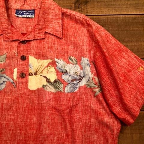 "1970s \"" O.P - OCEAN PACIFIC - \"" 60/40 - BACK CLOTH - vintage P/O SHIRTS ._d0172088_21570942.jpg"