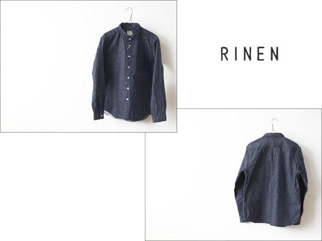 RINEN[リネン] 6オンスノットインディゴデニム レギュラーカラーシャツ[33903] インディゴ・デニム・長袖・MEN\'S_f0051306_18010752.jpg