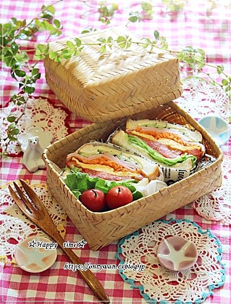角食パンでわんぱくサンド弁当とおnewのお弁当箱キタ―♪_f0348032_18053992.jpg