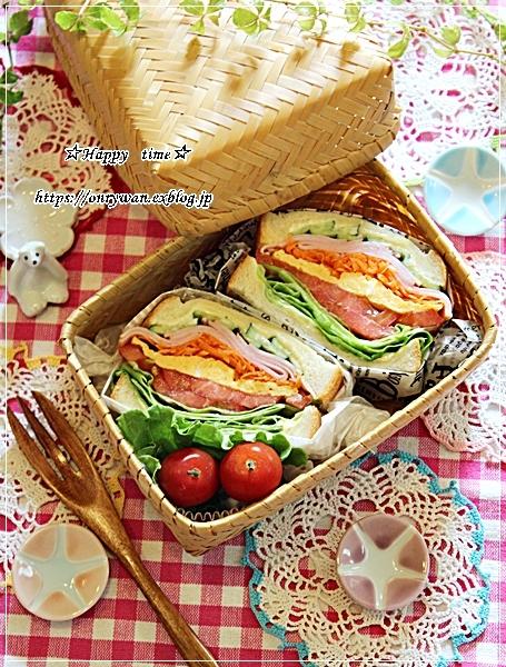 角食パンでわんぱくサンド弁当とおnewのお弁当箱キタ―♪_f0348032_18054741.jpg