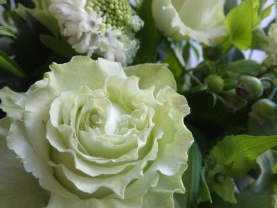 オークリーフ(薔薇を入れた夏のアレンジメント)_f0049672_17023350.jpg
