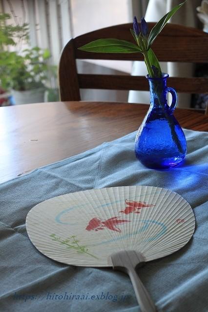 夏のしつらえはブルーで。。。_f0374092_22220716.jpg