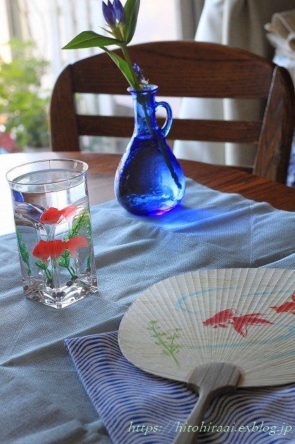 夏のしつらえはブルーで。。。_f0374092_22224051.jpg