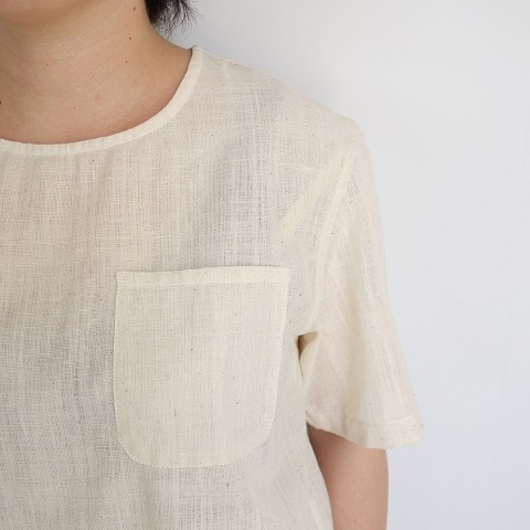 chahat : khadi T shirt with pocket_a0234452_18582439.jpg