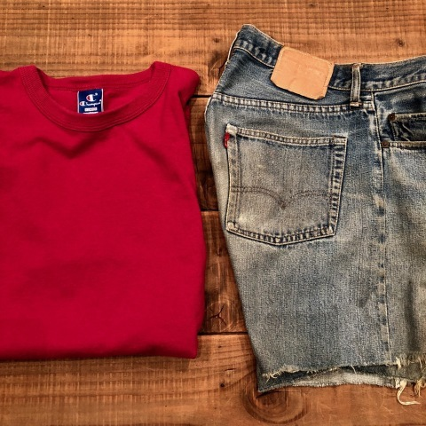 "1975 "" Levi\'s \"" 501 - 66 MODEL single stitch -  VINTAGE CUT-OFF DENIM SHORTS ._d0172088_17013765.jpg"
